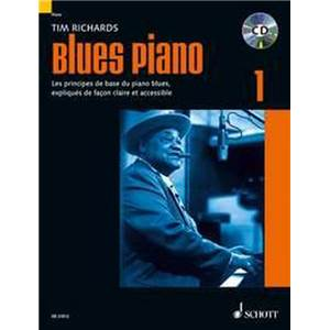 RICHARDS TIM - BLUES PIANO VOL.1 (METHODE DE BLUES EN FRANCAIS) + CD PIANO