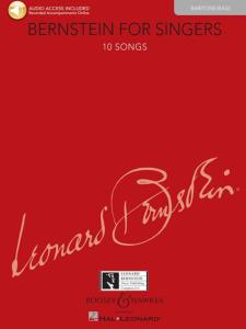 BERNSTEIN LEONARD - BERNSTEIN FOR SINGERS +AUDIO DOWNLOAD - VOIX BARYTON OU BASSE ET PIANO