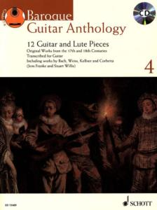 BAROQUE GUITAR ANTHOLOGY VOL.4 +CD - GUITARE