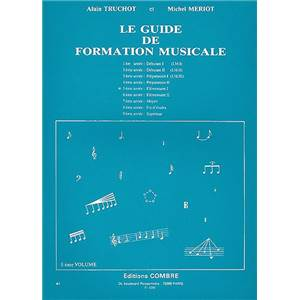 TRUCHOT/MERIOT - GUIDE DE FORMATION MUSICALE VOL.5 - ELEMENTAIRE 1 - FORMATION MUSICALE