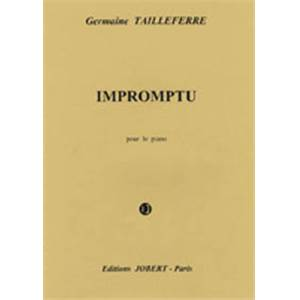 TAILLEFERRE GERMAINE - IMPROMPTU POUR PIANO - PIANO