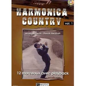 HERZHAFT DAVID - HARMONICA COUNTRY VOL.1 + CD