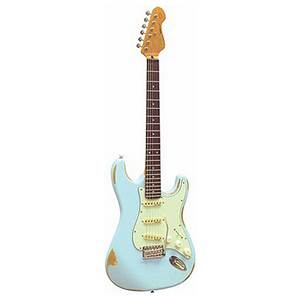 GUITARE ELECTRIQUE VINTAGE ICON SERIES STRAT V6 MR LB LAGUNA BLUE
