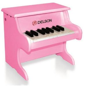 DELSON PIANO BEBE 18 TOUCHES ROSE