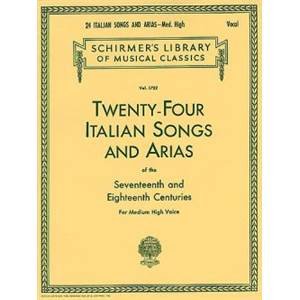 COMPILATION - 24 ITALIAN SONGS AND ARIAS OF 17/18TH CENTURY