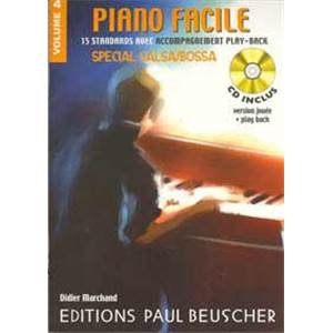 MARCHAND DIDIER - PIANO FACILE VOL.4 SPECIAL SALSA ET BOSSA + CD
