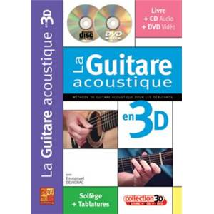 DEVIGNAC EMMANUEL - GUITARE ACOUSTIQUE EN 3D + CD + DVD