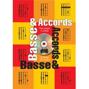 TAUZIN BRUNO - BASSE & ACCORDS POUR BASSE 4/5/6 CORDES + CD