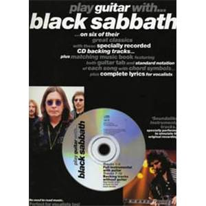 BLACK SABBATH - PLAY GUITAR TAB. + CD