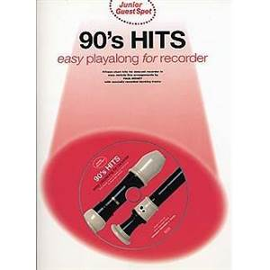 COMPILATION - JUNIOR GUEST SPOT: 90'S HITS EASY PLAY ALONG FLÛTE A BEC + CD