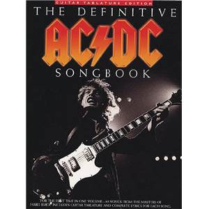 AC/DC - DEFINITIVE SONGBOOK GUITAR TAB.