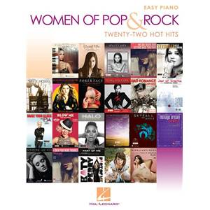 COMPILATION - WOMEN OF POP AND ROCK: EASY PIANO 22 HOT HITS