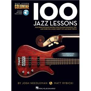 NEEDLEMAN / RYBICKI - 100 JAZZ LESSONS BASS LESSON GOLDMINE SERIES + AUDIO ACCESS