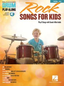 COMPILATION - DRUM PLAYALONG VOL.41 ROCK SONGS FOR KIDS + ONLINE AUDIO ACCESS