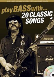 COMPILATION - PLAY BASS WITH 20 CLASSIC SONGS + 2CD Épuisé