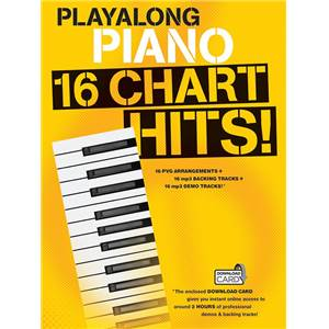 COMPILATION - PLAY ALONG PIANO 16 CHART HITS (BOOK & DOWNLOAD CARD)