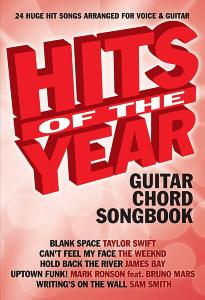 COMPILATION - HITS OF THE YEAR 2015 GUITAR CHORD SONGBOOK