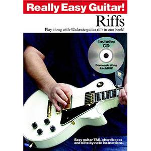 MUSIC SALES - REALLY EASY GUITAR RIFFS + CD