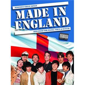 COMPILATION - MADE IN ENGLAND 19 GREAT SONGS P/V/G