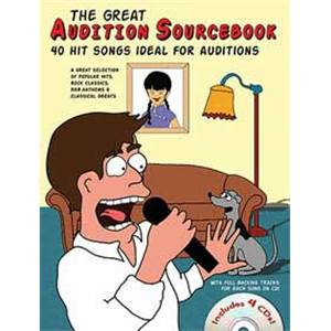 COMPILATION - THE GREAT AUDITION SOURCEBOOK 40 HIT SONGS IDEAL FOR AUDITOR MALE SINGERS + 4 CD