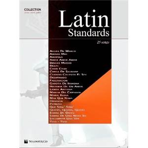 COMPILATION - LATIN STANDARDS 25 SONGS P/V/G
