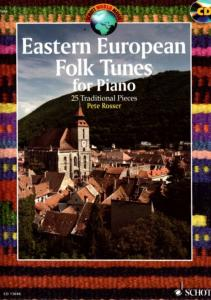 COMPILATION - EASTERN EUROPEAN FOLK TUNES (25 TRAD.D'EUROPE DE L'EST) + CD - PIANO
