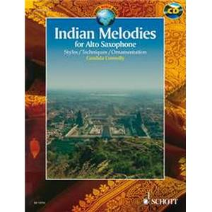 COMPILATION - INDIAN MELODIES FOR ALTO SAXOPHONE MIB + CD