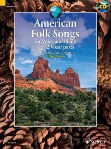 AMERICAN FOLK SONGS +CD (20 AIRS TRADITIONNELS) - VOIX ET PIANO