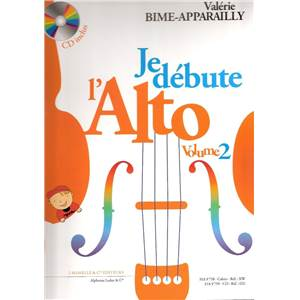 BIME-APPARAILLY VALERIE - JE DEBUTE L'ALTO VOLUME 2 + CD