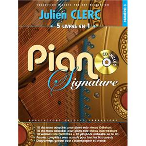 CLERC JULIEN - PIANO SIGNATURE VOL.3 5 RECUEILS EN 1 + CD