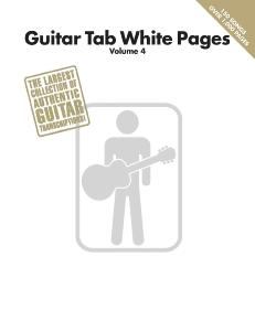 COMPILATION - GUITAR TAB. WHITE PAGES VOL.04