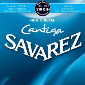 JEU CORDES GUITARE SAVAREZ 510 CJH NEW CRISTAL CANTIGA BLUE HIGH TENSION