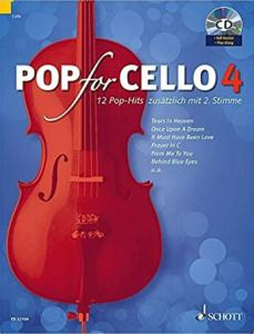 POP FOR CELLO VOLUME 4 +CD  - VIOLONCELLES (1-2)