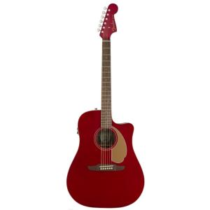 GUITARE FOLK ELECTRO-ACOUSTIQUE FENDER REDONDO PLAYER JETTY CANDY APPLE RED