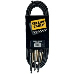 CABLE  2X JACK MONO / 1X JACK STEREO YELLOW CABLE ECO K05-3
